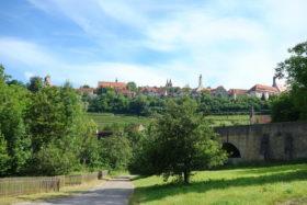 Radtour Taubertal zwischen Rothenburg und Weikersheim -Blick auf Rothenburg