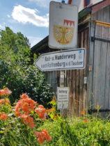 Radtour Taubertal zwischen Rothenburg und Weikersheim -Gasthof Holdermühle, Grenze Bayern-BW