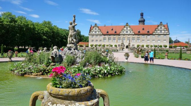 Radtour Taubertal zwischen Rothenburg und Weikersheim -Schlossgarten Weikersheim
