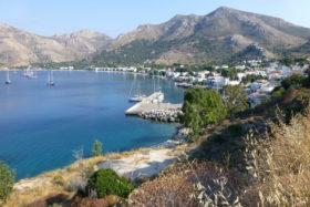 Blick auf die Bucht von Livadia