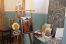Ikonenmalerei in der Kirche der Panagia Evangelistria