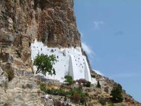 Meltemi, d.h. Landausflug in Amorgos Kloster Chozoviotissa