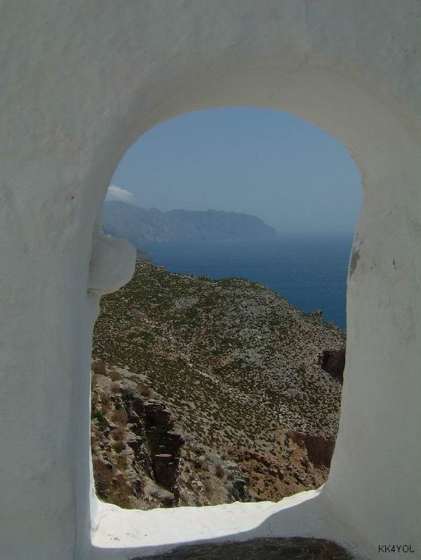Amorgos Blick vom Kloster Chozoviotissa