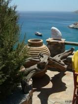 Meltemi, d.h. Landausflug in Amorgos -Beach von Kamari