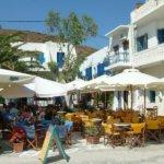 Meltemi, d.h. Landausflug in Amorgos Hafenpromenade Katapola