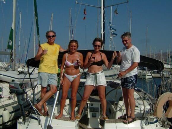 Meltemi-Crew 2: Klaus, Brigitte, Lada, Gerhard