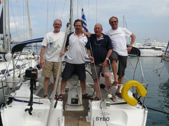 Törn Nördliche Kykladen -Crew: Jürgen, Reinhard, Eberhard, Klaus