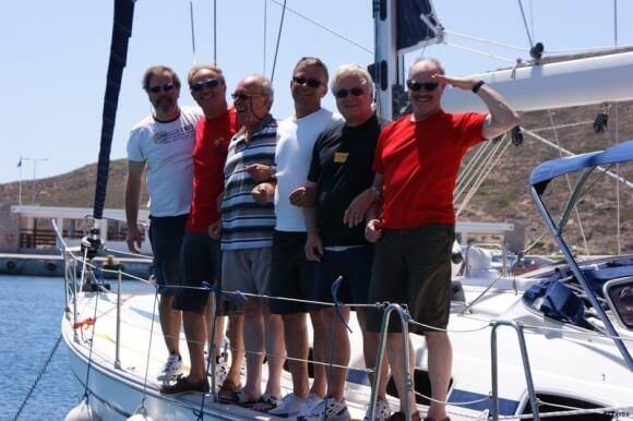 Crew von rects: Jürgen, Rainer, Wolfgang, Eberhard, Klaus, Reinhard