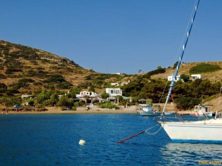 Lipsi -Taverne in der Bucht Lera Lipsi