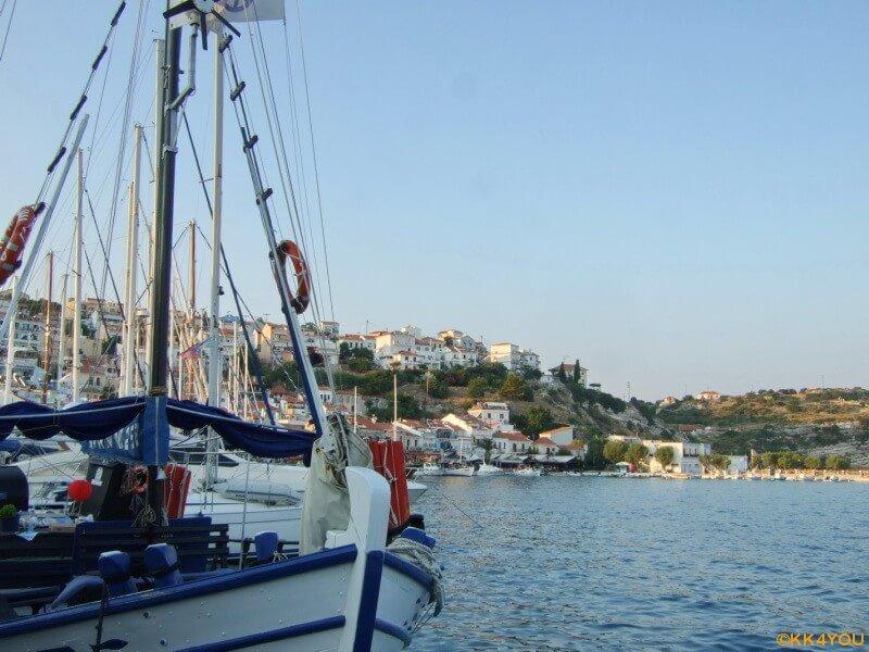 Samos -Pythagorio -Blick über die Hafenbucht