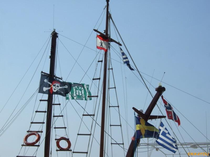 Samos -Pythagorio -Piraten vor dem Auslaufen