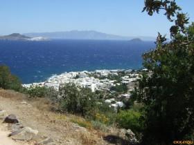 Nisyros -Blick vom Palekastro nach Mandraki