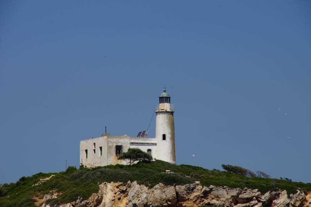 Leuchtturm an der Küste von Skiathos