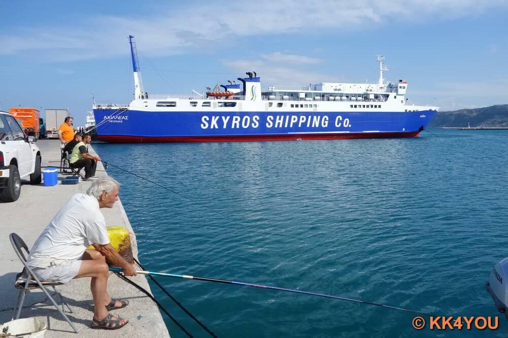 Euböa -Hafen Kymi