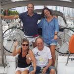 Crew: v.l.  Lada, Rainer, Klaus und Barbara