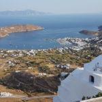Serifos -Blick auf den Hafen