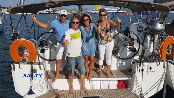 Crew: Rainer, Klaus, Barbara, Lada (v.r)