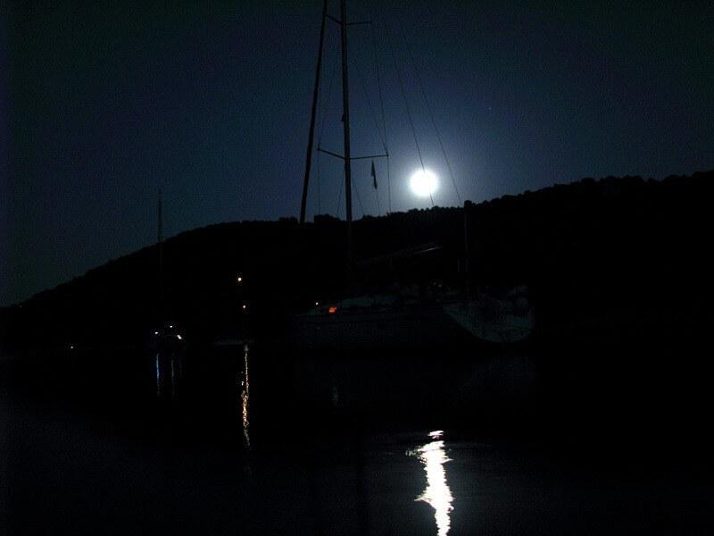 Kalamos -Hafen Porta Leone -Abendstimmung
