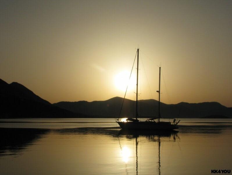 Kalamos -Hafen Porta Leone -Sonnenaufgang