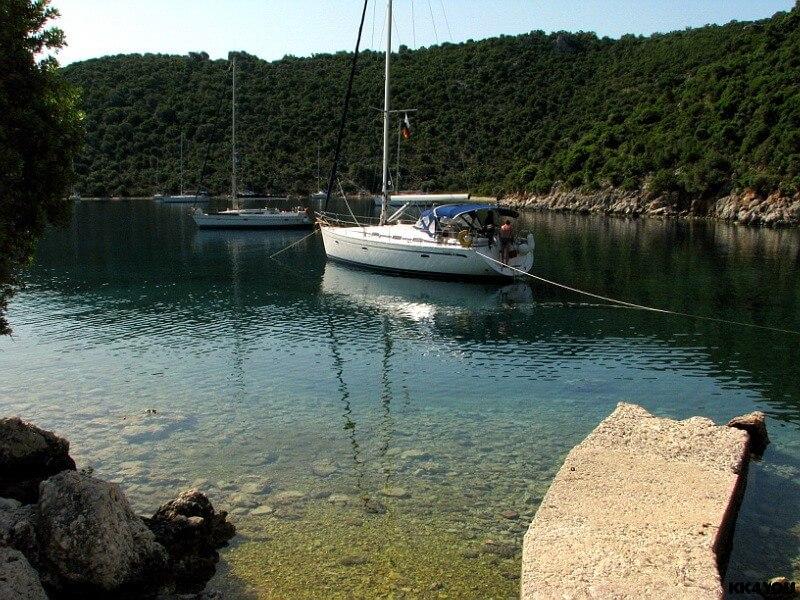Kalamos -Hafen Porta Leone, das verlassene Dorf