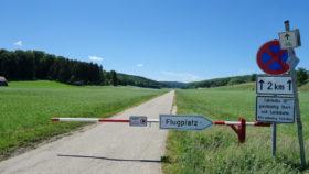 Wiesensteiger Radtour über die Alb -Abzweigung zum Flugplatz Laichingen