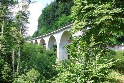 Radtour Wieslauftal -Viadukt Laufenmühle