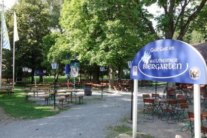 Radtour Wieslauftal -Welzheim, Biergarten Am Tannwald