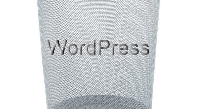 WordPress Papierkorb